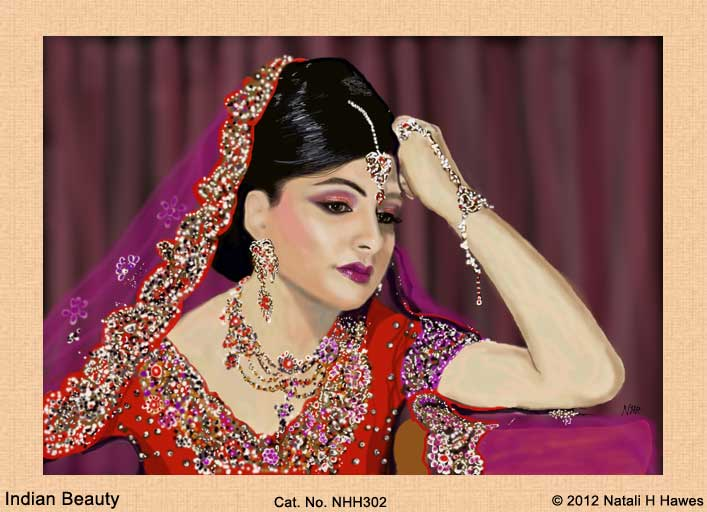 Indian Beauty by Nat H H